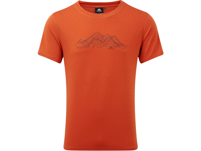 Mountain Equipment Groundup Mountain T-paita Miehet, paprika